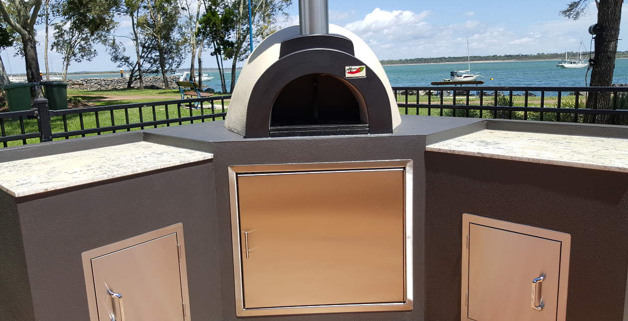A beautiful wood fired oven set up so that the owners can spend more time enjoying the view and the great outdoors