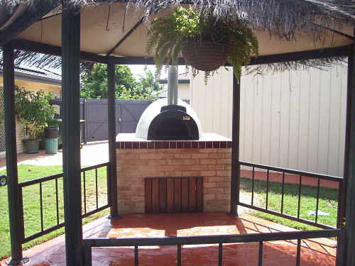 Afresco wood fired ovens supplied and installed by Fraser Coast Wood Fired Ovensuppli