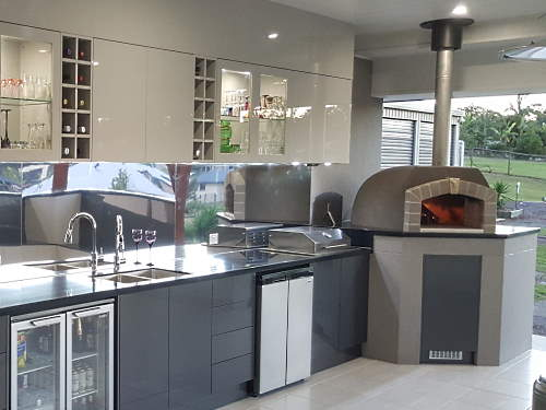 A Sydney Wood Fired Ovens forms part of a large entertainment area