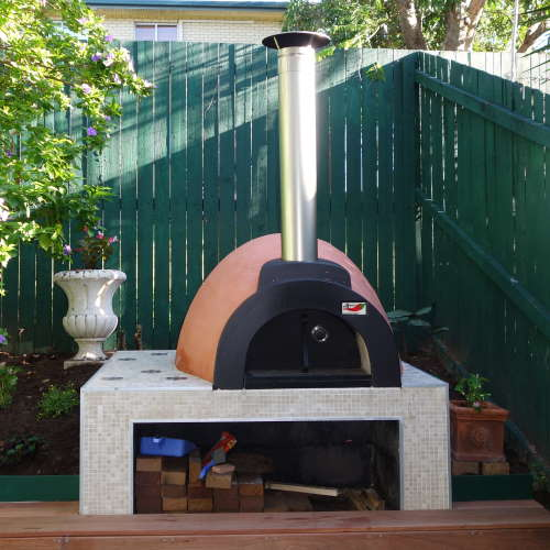 a small Alfresco wood fired oven supplied and installed by Fraser Coast Wood Fired Ovens