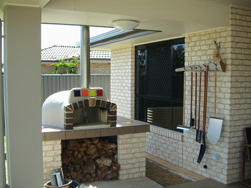 A wood fired oven made from a Sydney Woodfire Ovens kit